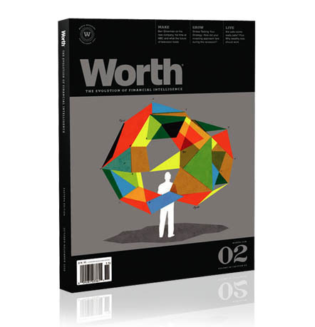 Brian Stauffer - Worth Magazine Covers